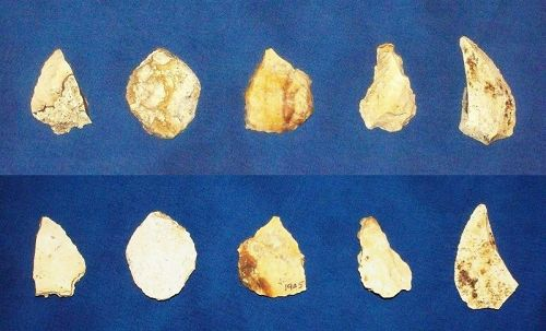 Five Native American Paleolithic Tools