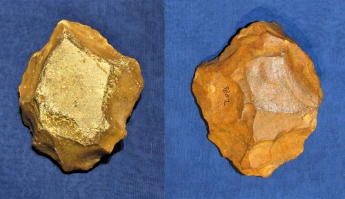 Middle Paleolithic Neanderthal Chopper on a Core