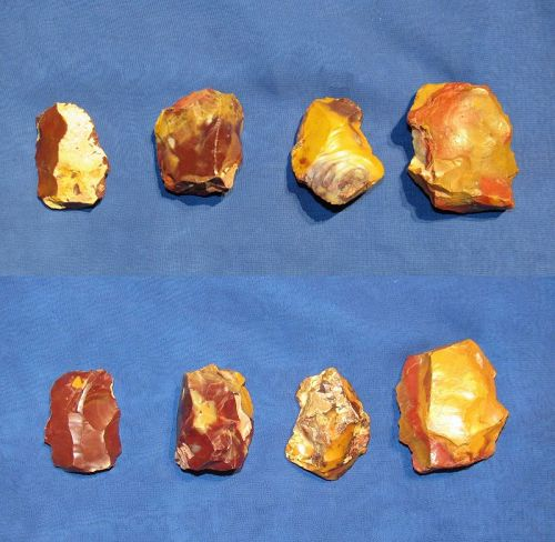 Four Neanderthal Flake Cores