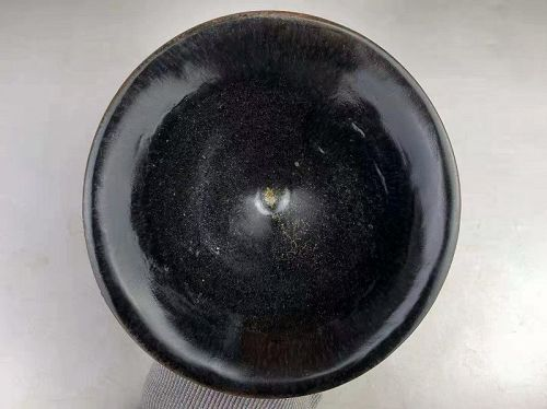 Southern Song Dynasty Jian Ware Temmoku Black Glaze Big Tea Bowl