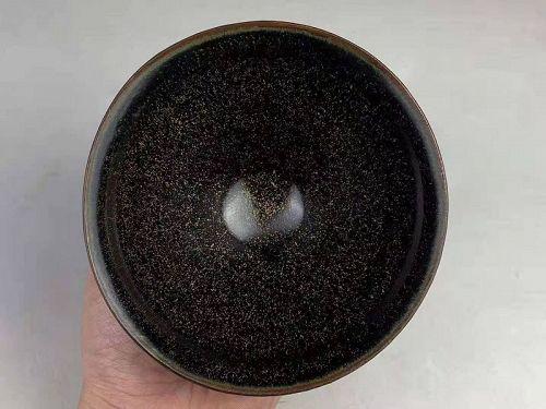 Southern Song Dynasty Jian Ware Temmoku Sesame Glaze Tea Bowl