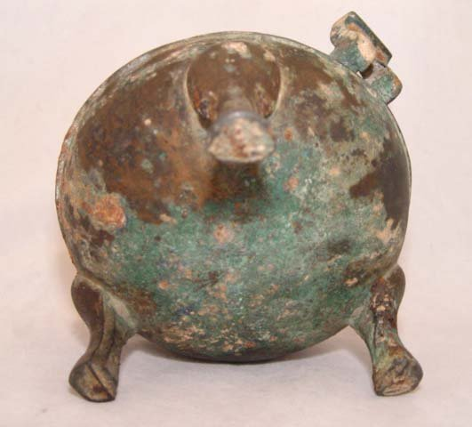 Chinese Bronze Food Container Ding - Qin 200BC
