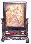 Mid Size Chinese Marble Scholar's Screen - Early 19th C