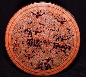 Burmese Yun Lacquered Betel Box - Late 19th Century