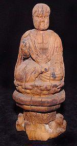 Chinese Ming Wooden Buddha - 15th Century