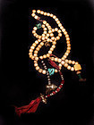 Tibetan Bone Mala Prayer Beads w/ Counters