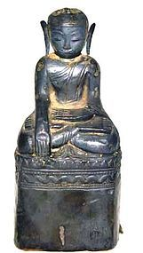 Silver Repousse Burmese Buddha -  18th Century