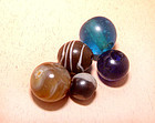 Five Assorted Chinese Beads - Qing Dynasty