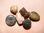 Six Old Chinese Beads