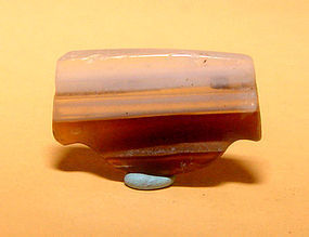 Ancient Natural Banded Agate Bead Pendant -100BC #10
