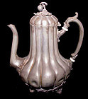 "A ""Pewter"" John Vickers Britannia Coffee Pot - 19th C."