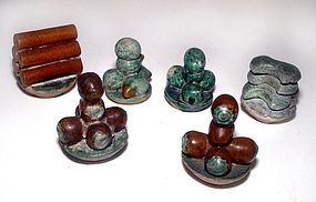 Chinese Assorted Ming Six Miniature Food Tomb Items