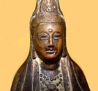 Chinese Bronze Ming Statue of Quanyin -  1368 - 1644