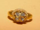 Large Cabochon Quartz Crystal Gold Ring - 14th Century