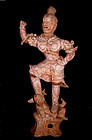 Very Rare Large Chinese Tang Tomb Guardian Warrior  618 - 907 AD
