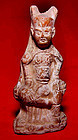 Chinese Statue of a Han Warrior - 206BC- 220AD