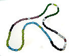 Chinese Large Assorted Color Glass Bead Necklace