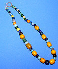 Chinese Old Glass Bead Necklace