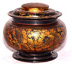 Burmese Gold Leaf Lacquered Food Container