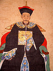 Chinese Ancestral Portrait of Qing First Rank Official