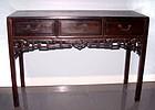 Rare Chinese Three Drawer Blackwood Hongmu Table