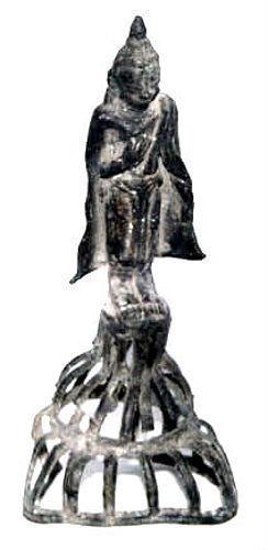 Burmese Standing Bronze Buddha - 16th Century
