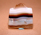 Ancient Natural Banded Agate Bead Pendant - 100 BC #2