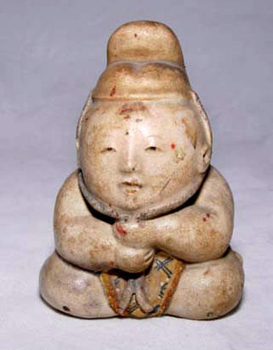 Japanese Seated Boy Doll - Edo Period
