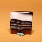 Ancient Natural Banded Agate Bead Pendant -100BC #16