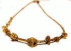 Rare Pyu Micro Solid Gold Necklace 100 -500 AD