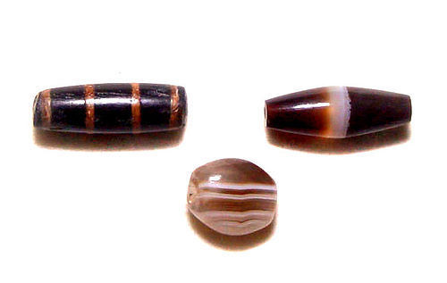 Three Pyu Agate Beads - 100 - 500 AD