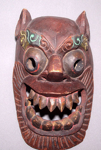 Tibetan Ritural Wooden Mask