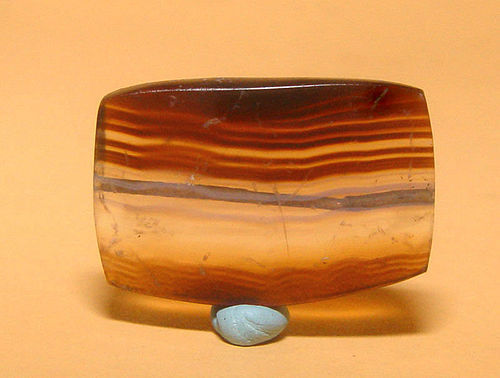 Ancient Natural Banded Agate Bead Pendant -100BC #12