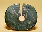 Larg Ancient Green Jade Earring  #4 - SE Asia. 1,200 BC