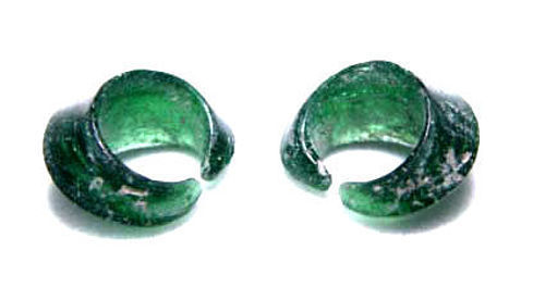Small Ancient Glass Earrings - S.E. Asia 100BC