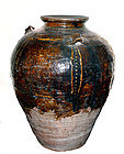 Large Rare Chinese Ming Glazed Jar  - 1368 AD - 1644 AD