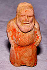 Chinese Tang Pottery Figure of a Dwarf - 7th Century.