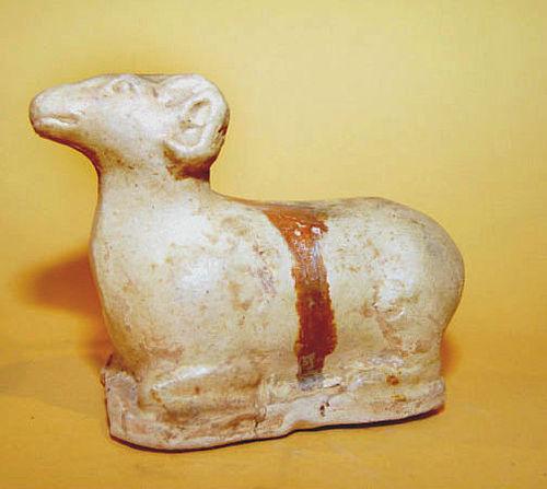 Chinese Glazed Tang Sheep - Tang Dynasty 618-907AD