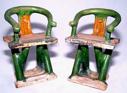 Chinese Ming Miniature Horseshoe Back Chairs-15th Century