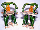 Chinese Ming Miniature Horseshoe Back Chairs-15th Century