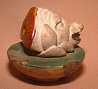 Chinese Ming Pig Head Pottery Figure - 15th century