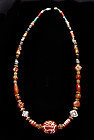 Ancient Deer Bead and Gold Necklace  - 100 AD to 500 AD