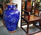 Rare Large Chinese Cobalt Blue Jar- 18th Century