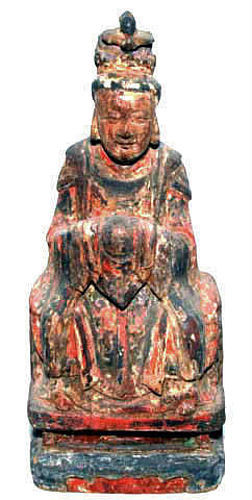 Chinese Ming Wooden Female Deity - 1368-1644 AD