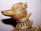 Large Rare Gilded Mythical Hintha Myayngu Bird Duck of Burma