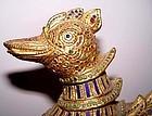 Large Rare Gilded Mythical Hintha Myayngu Bird Duck of Burma