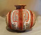 Chinese Rare Han Cocoon Jar  - 100 BC
