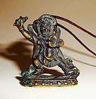 Rare Vajrapāni Tibetian Metal Amulet - 18th Century