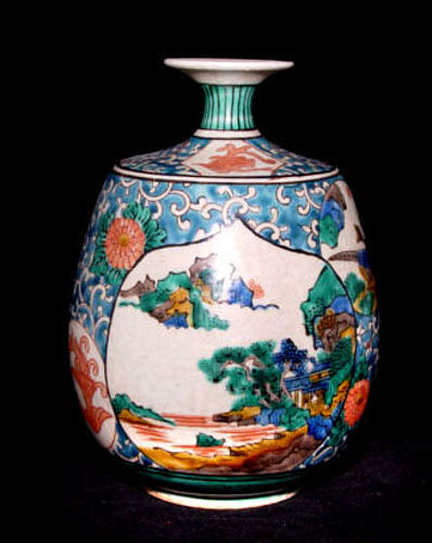 Antique Japanese Kutani Vase