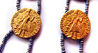Ancient Kushan Gold Coin Necklace - 2nd C. AD